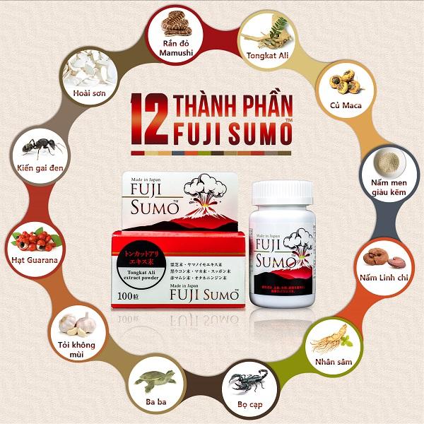 Viên uống Fuji Sumo có nguồn gốc 100% từ thiên nhiên