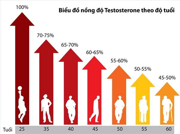 Testosterone sụt giảm có gây vô sinh không